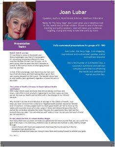 Joan Lubar Speaker Sheet